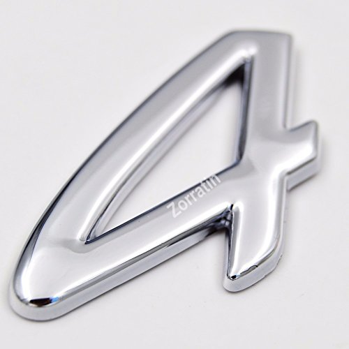 Chrome 4 Letter Rear Trunk Boot Lid Deck Emblem Badge for Porsche 911 Carrera 996 997 993