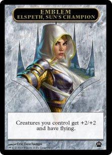 Magic: the Gathering - Emblem - Elspeth, Sun's Champion (11/11) - Theros (Sun Champion Mtg)
