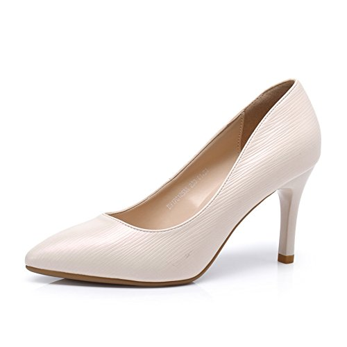 Female Spring High Heels,Stiletto Spitze Damenschuhe,Flacher Schuh für Frauen,Joker-Schuhe-B Fußlänge=23.3CM(9.2Inch)