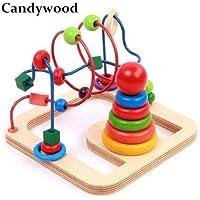 2'si 1 Arada Set Boncuklu Tel Labirent Oyunu Helezon Oyunu ve Tekli Kule Oyunu Ahşap Oyuncaklar