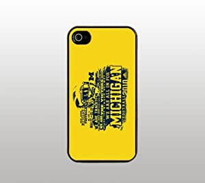 Michigan Wolverines Hard Snap-On Case for iPhone 5 - Black - Cool Custom Cover - University of Michigan Football