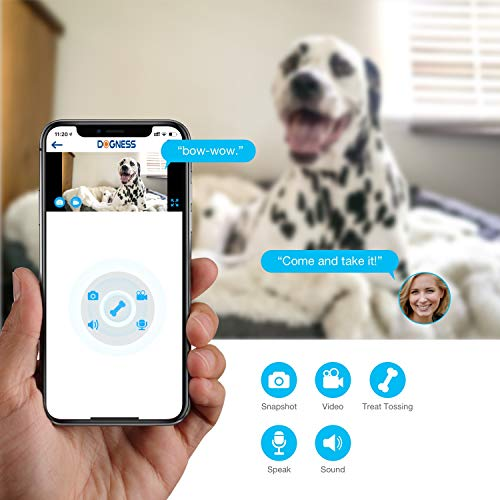 Vbroad Smart Pet Camera Treat Dispenser, WiFi Remote Camera Monitor 720P HD Night Vision Video with 2-Way Audio Designed for Dogs and Cats, Home Safety Pet Monitor (Android/iOS) by Vbroad (Image #2)