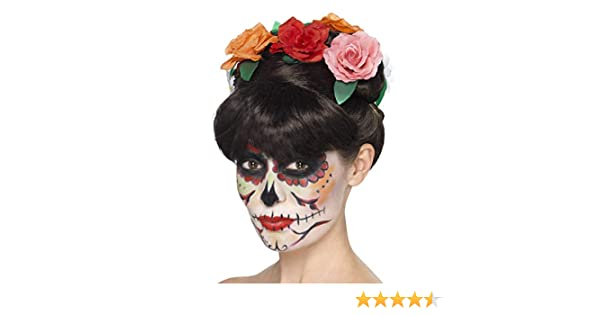 Smiffy s 44924 día de los muertos Frida peluca (talla única ...