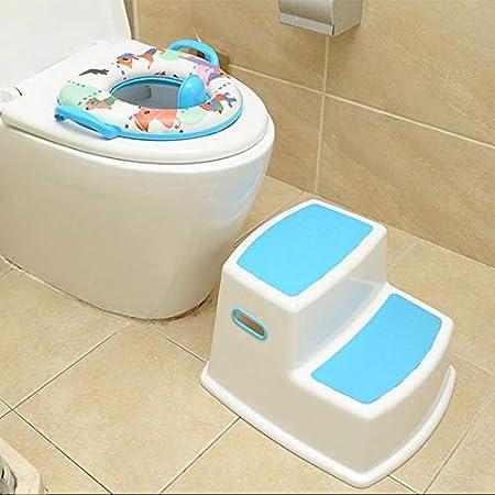 per Imparare a Usare Il WC e Il vasino Blue Genlesh Sgabello a 2 gradini per Bambini