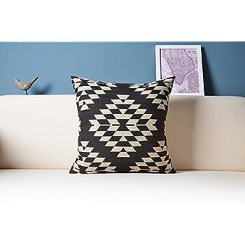 Amazon Com Aztec Pillow Cover Black And White Pillow