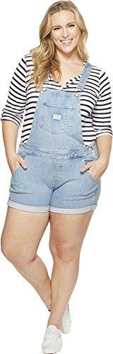 Levi's Women's Plus Size Shortalls, Pretty Fly, 36 (US 16)
