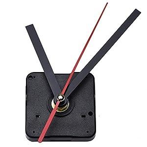 Reloj con Movimiento,Reloj Agujas,Minutero Segundero,Cuarzo Reloj Herramienta de Reparación DIY,DIY Reloj de Cuarzo con Negra Mano 7
