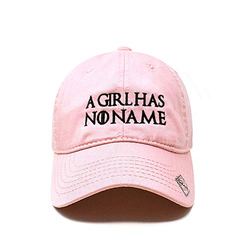 - Game of Throne | A Girl has no Name Dad Hat Cotton Baseball Cap Polo Style Low Profile (Cotton Light Pink)