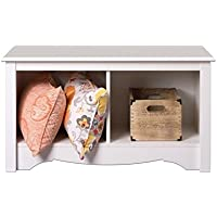 Hawthorne Collections 2 Cubby Bedroom Bench in White