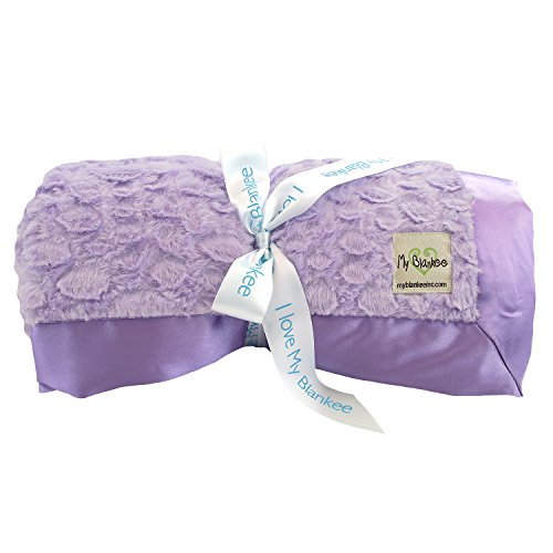 My Blankee Luxe Stone Throw Blanket with Flat Satin Border, Lilac, 52'' X 60'' by My Blankee (Image #1)