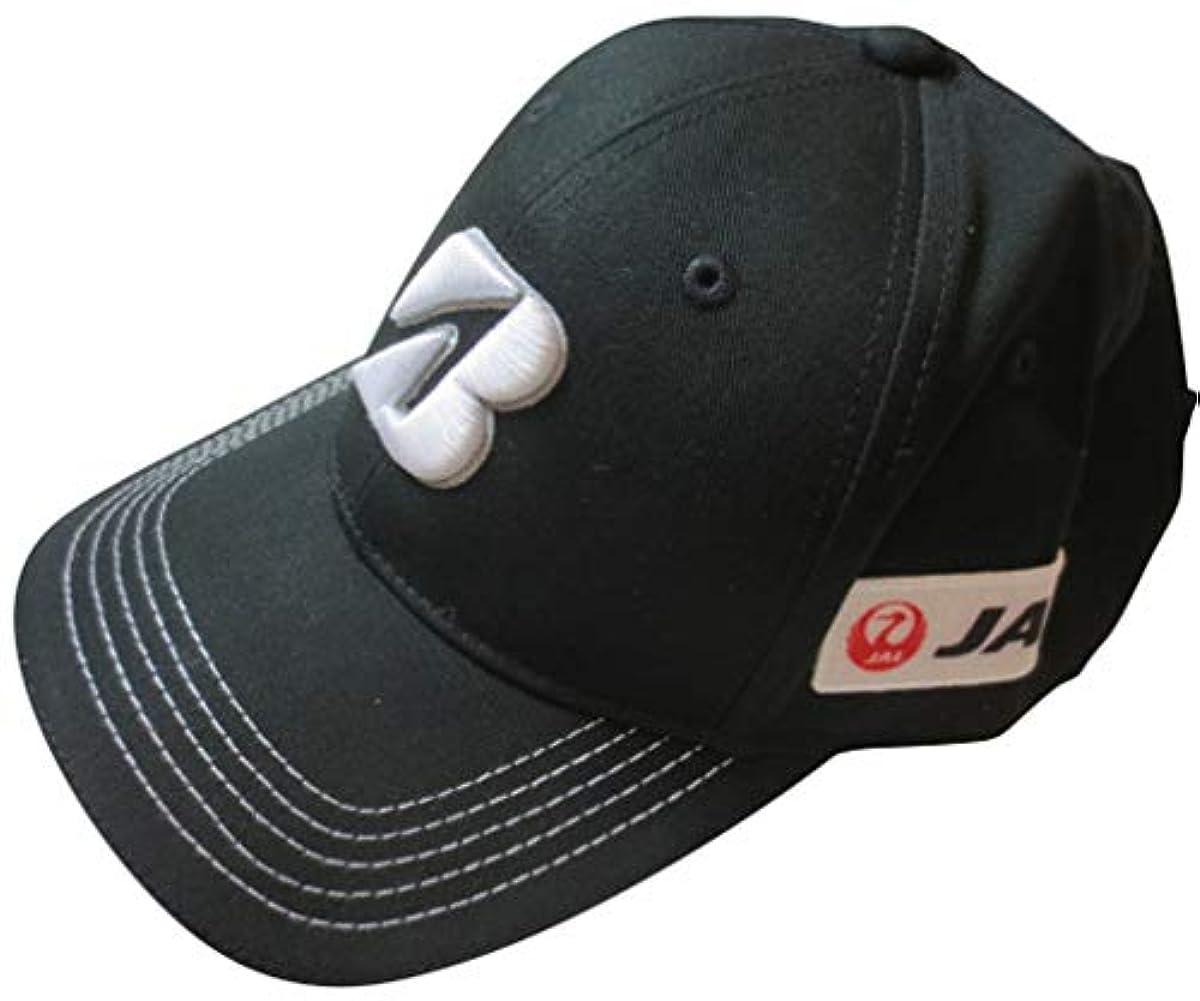 [해외] [브리 JIS 톤 골프] BRIDGESTONE GOLF TOUR B JAL 맨즈 캡 모자 블랙 L