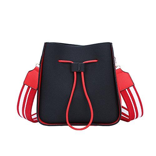 Larges Femme Seau All Nouveau Bretelles Sac Bandoulière Forfait black Loisirs Hit Sac Photo Match Mode Otomoll Couleur Hiver dqfxwdB