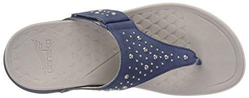 Dansko Womens Catalina Flat Sandal Blue Nubuck 01XGZX