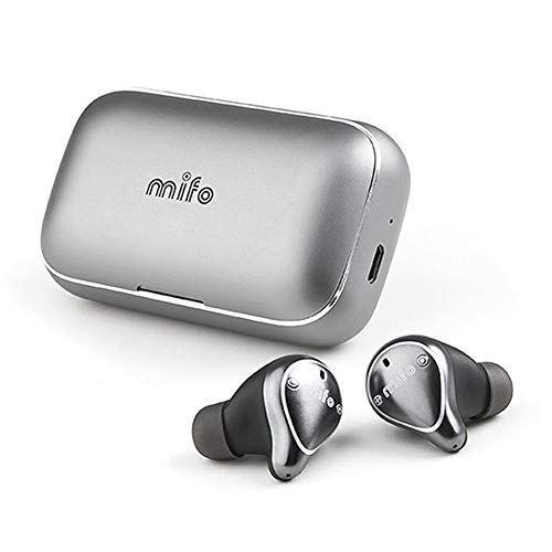 mifo 07 Bluetooth 5.0 True Wireless Bluetooth Earbuds, True Wireless Headphones, Built-in Microphone Bluetooth Earbuds with Charging Case, Grey