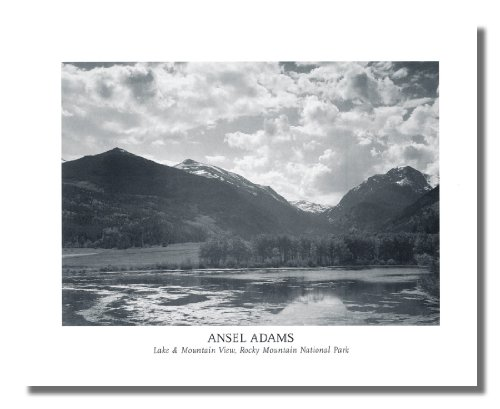 Ansel Adams B/W Photo Rocky Mountain National Park Wall Picture 8x10 Art Print