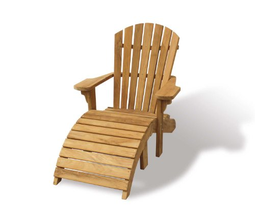 Teak Adirondack Bear Chair With Footstool   Sturdy And Sustainable Hardwood    Jati Brand, Quality U0026 Value: Amazon.co.uk: Garden U0026 Outdoors