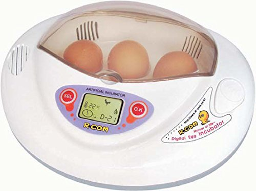 R-Com PX-03 Plastic/Metal Mini Digital Auto-Turning Egg Incubator