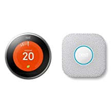 Nest Learning Thermostat, 3rd Generation & Nest Protect smoke & carbon monoxide alarm, Battery (2nd gen)