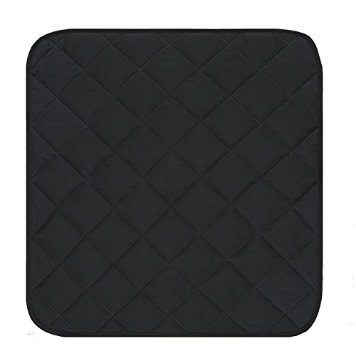 Mydays Chair Seat Protector Pad Absorbent Washable Reusable Incontinence Dining Chair Cover Mat Seat Cushion (Black, 2122)