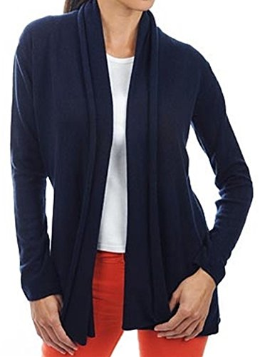 Balldiri 100% Cashmere Kaschmir Damen Strickjacke feminin 2-fädig nachtblau XS