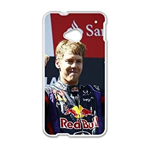 SANLSI Sebastian Vettel Red Bull White Phone Case for HTC One M7 BY icecream design