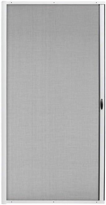 jarolift 3 en 1 Zanzara Puerta Mosquitera Corredera con Marco de Aluminio, Protección contra Insectos, Kit Acortable, 140 x 240 cm (Ancho x Alto), Color Blanco