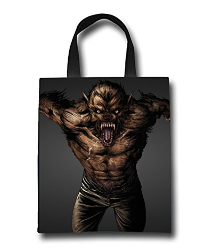 Wolf Man Beach Tote Bag - Toy Tote Bag - Large Lightweight Market, Grocery & Picnic by Linhong