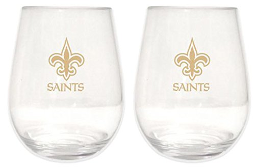 New Orleans Saints 20 oz Plastic Stemless Wine Glass 2 -