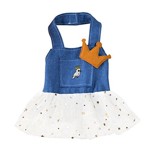 Cockatiel Halloween Costumes (New Spring Summer Peg Dog Shirt Skirt Cartoon Cockatiel Stitches Dog Vest)