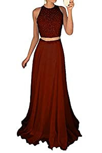 Icy Sun Women's Long Two Piece Prom Dresses with Sparkly Sequins Evening Party Gowns ICYL079