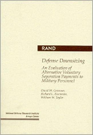 Defense Downsizing: An Evaluation of Alternative Voluntary