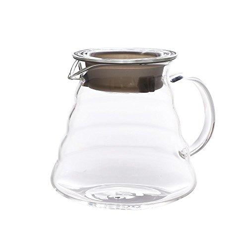 Clear Glass Jug Coffee Carafe Server 650 ML / 22 OZ Coffee Pot Teapot Kettle Teakettle Pour Over Coffee Cloud Pot(650ML) ()