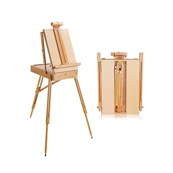 Artist Drawing French Style Art Easel Sketchbox With