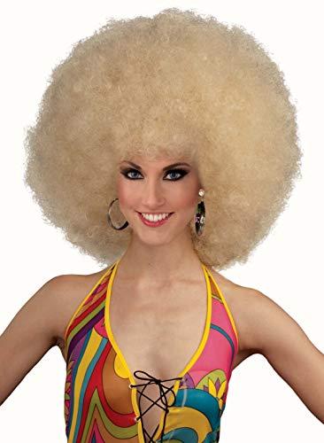 Blonde Afro Wig Costume (Forum Novelties Unisex Deluxe Mega Afro Costume Wig, Blonde, One)
