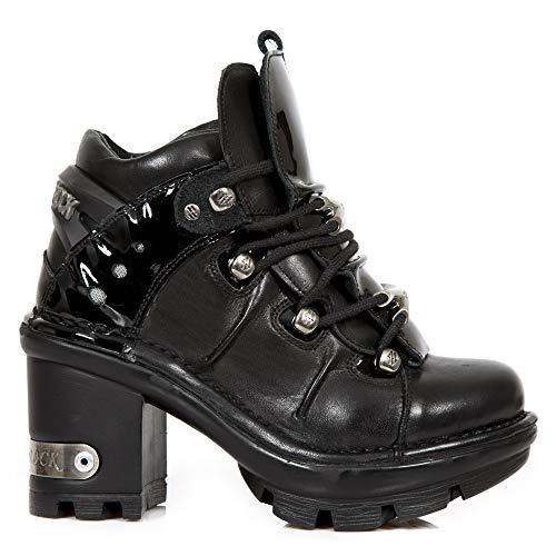 M Heavy NEOTYRE01 Ladies S1 Shoes Women's New Rock Punk Leather Gothic Black Platform qAPw51Z