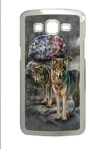 Pride Rock Wolf Polycarbonate Hard Case Cover for Samsung Grand 2/Samsung Grand 7106 Transparent