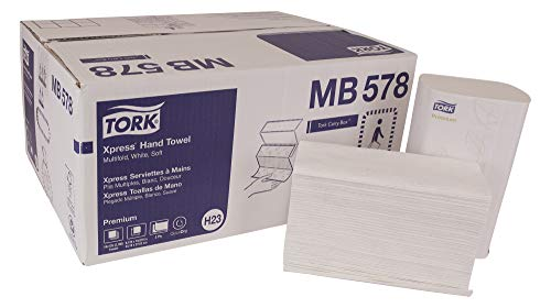 TORK Premium MB578 Soft Xpress Multifold Paper Hand Towel, 3-Panel, 2-Ply, 9.125