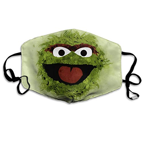 Wecottkerc Unisex Oscar The Grouch Reusable Anti Dust Face Mouth Cover Mask Windproof Mask Breathable 7 X 4.3 in -