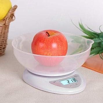 Mini alta precisione cucina casalinga elettronica scala-bianco con ciotola