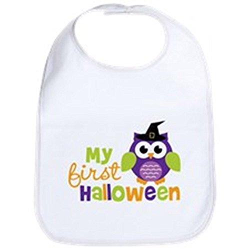 CafePress My First Halloween Owl Bib Cute Cloth Baby Bib, Toddler ()