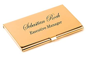 Amazon personalized rose gold business card case holder amazon personalized rose gold business card case holder engraved free office products colourmoves