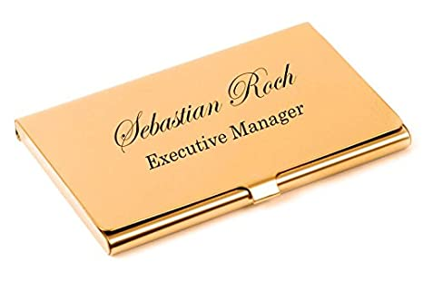 Amazon personalized rose gold business card case holder personalized rose gold business card case holder engraved free colourmoves