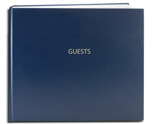 BookFactory Guest Book (120 pages) / Guest Sign-In Book / Guest Registry / Guestbook - Blue Cover, Smyth Sewn Hardbound, 8 7/8