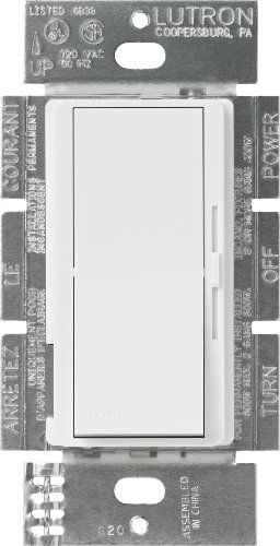 Lutron DVFSQ-F-WH Diva 1.5 A 3-Way Single Pole 3-Speed Fan Control, White