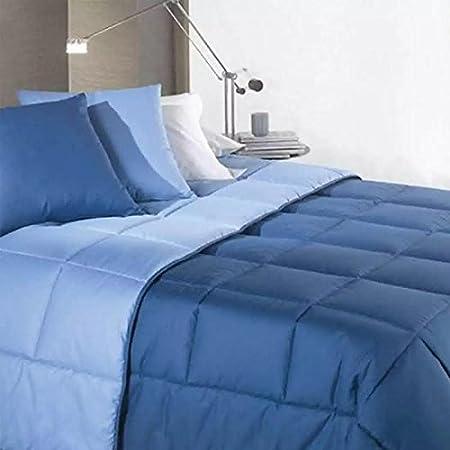 Piumoni Singoli In Offerta.Piumino Invernale Singolo Double Face Azzurro Blu Una Piazza Caldo