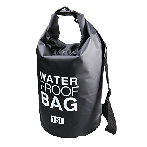 Waterproof Dry Bag Outdoor Roll Top Secure Sack To Keep Your Gear Safe From Water, Perfect For Boating, Fishing, Kayaking and Watersport, Camping 15L
