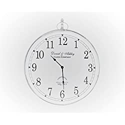 Saffron Fabs 24 Inches Round Metal Wall Clock in Nickel Finish by
