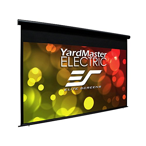 "Elite Screens Yard Master Electric, 100 inch Outdoor Motorized Projector Screen Rain Water Protection 16:9 Remote Control 8K 4K Ultra HD 3D Movie Theater 100 "" Auto Projection Screen, OMS100H-ELECTRIC"