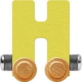 product image for Maple Landmark NameTrain Pastel Letter Car H - Made in USA (Yellow)