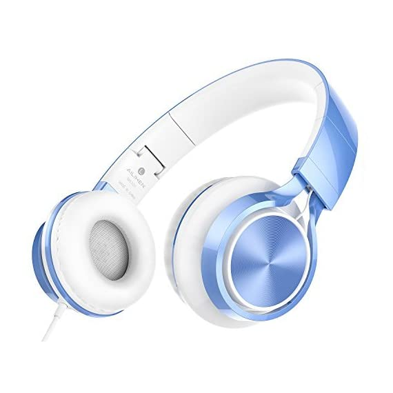 AILIHEN MS300 Wired Headphones, Stereo Foldable Headset for iOS Android Smartphone Laptop Tablet PC Computer - 4111FOraMEL - AILIHEN MS300 Wired Headphones, Stereo Foldable Headset for iOS Android Smartphone Laptop Tablet PC Computer